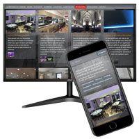 visuel Site complet back-office gestion actualités et réalisations