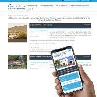visuel Site sur-mesure avec back-office pour la gestion des contacts, des biens et actualités